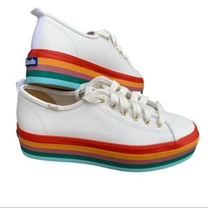 NWOT Keds Triple Up Rainbow sneakers, sz 8